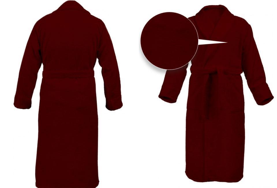 Мужской махровый classic халат с вышивкой имени и короны